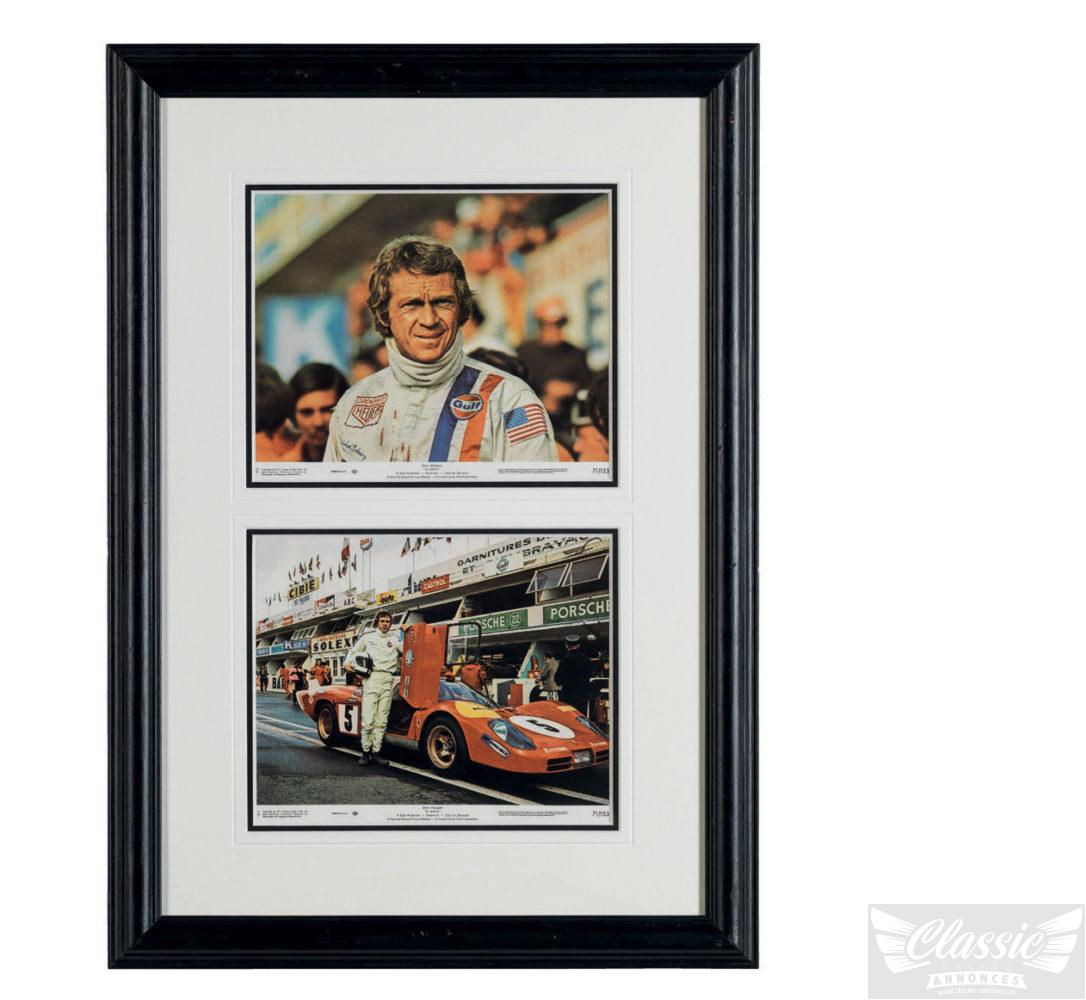 le mans steve mcqueen au paddock steve mcqueen aux stands classic racing annonces. Black Bedroom Furniture Sets. Home Design Ideas